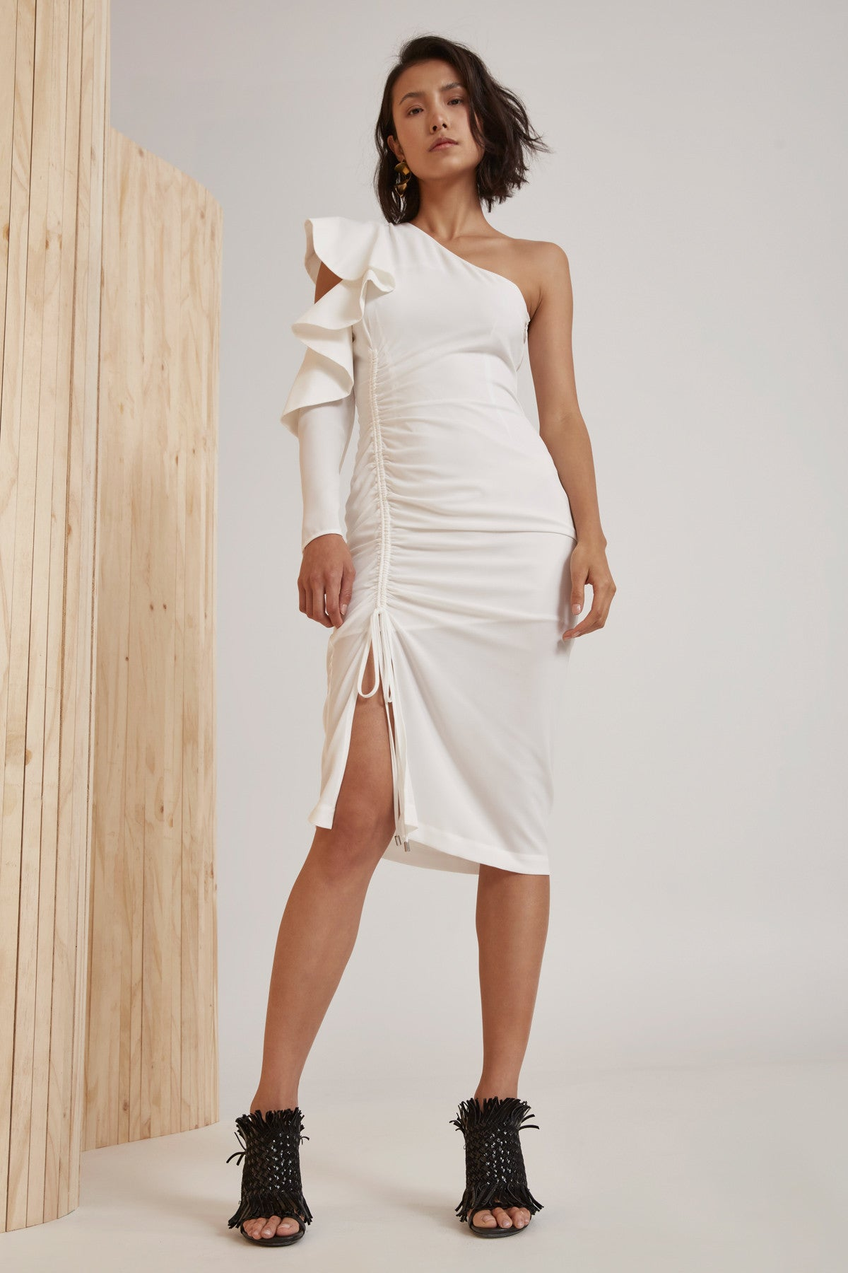 WHITE NOISE DRESS ivory