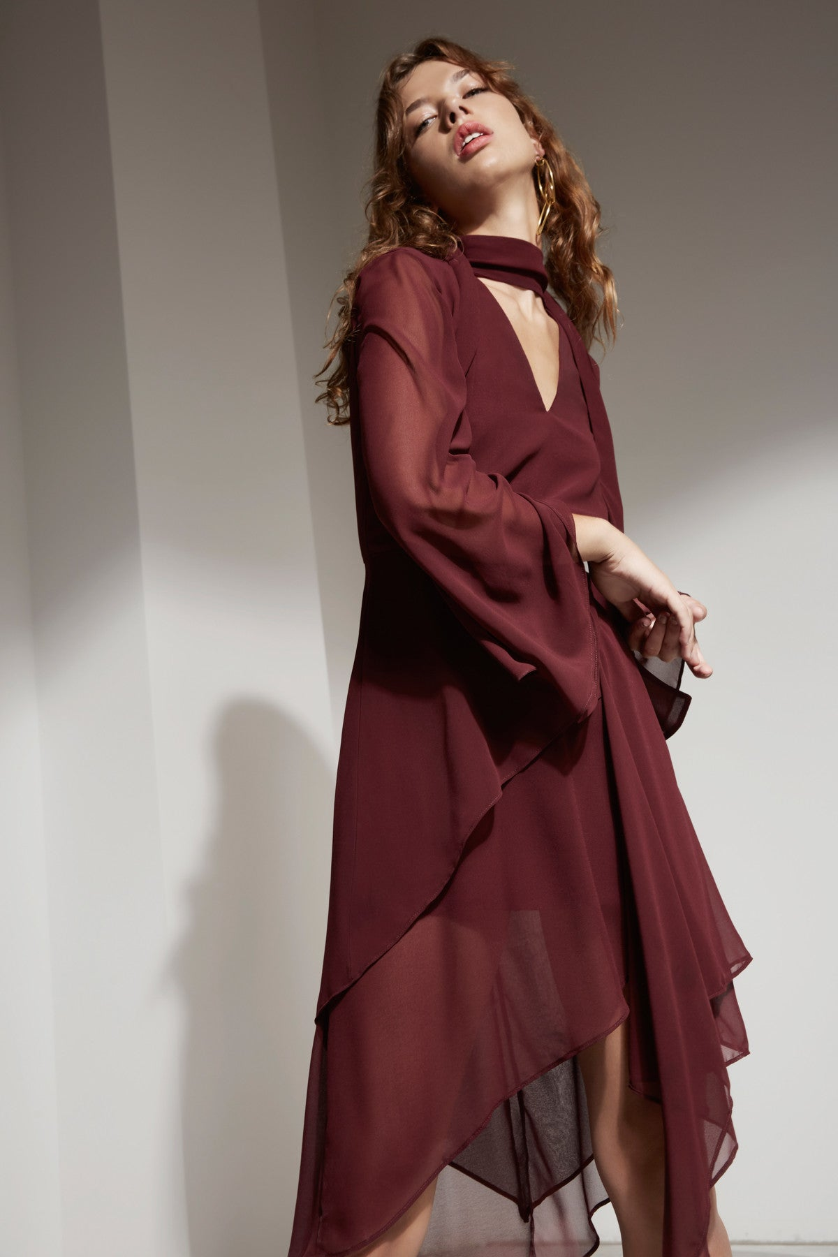 AUTONOMY DRESS mahogany