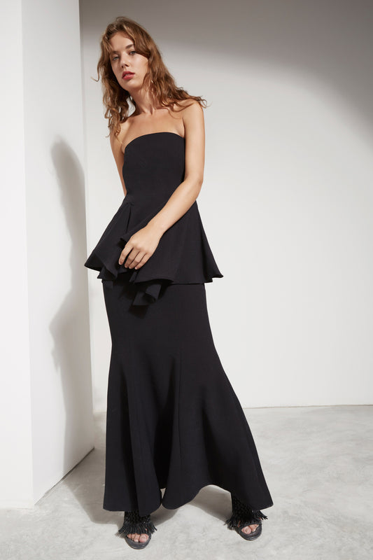 AUTONOMY FULL LENGTH DRESS black