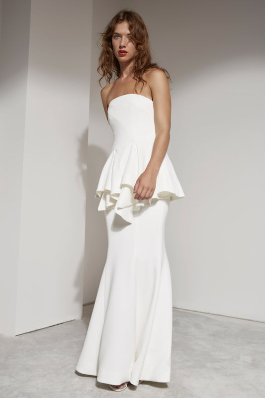 AUTONOMY FULL LENGTH DRESS ivory
