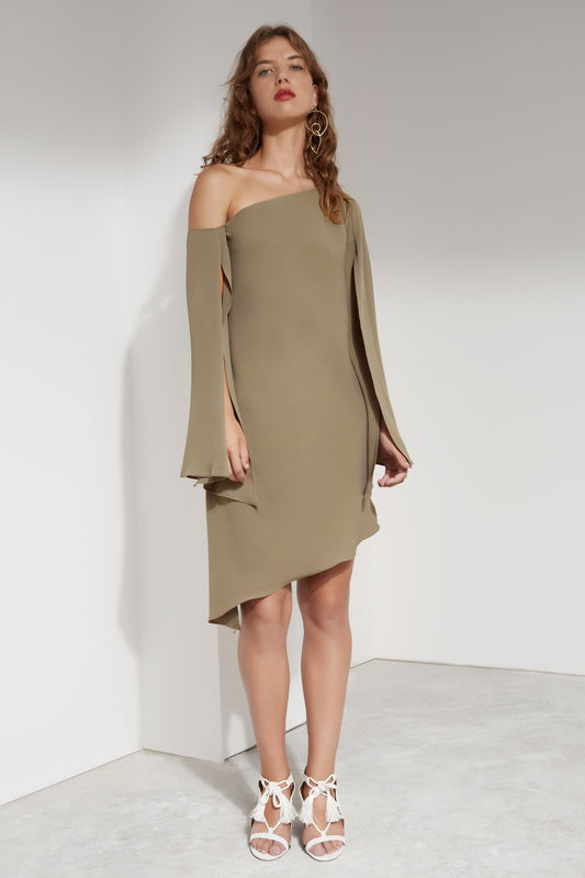BEYOND ME DRESS khaki