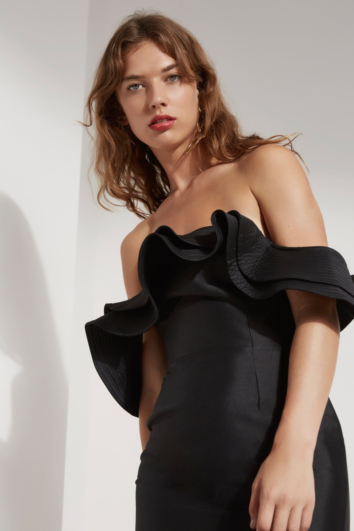 EXTANT BUSTIER DRESS black
