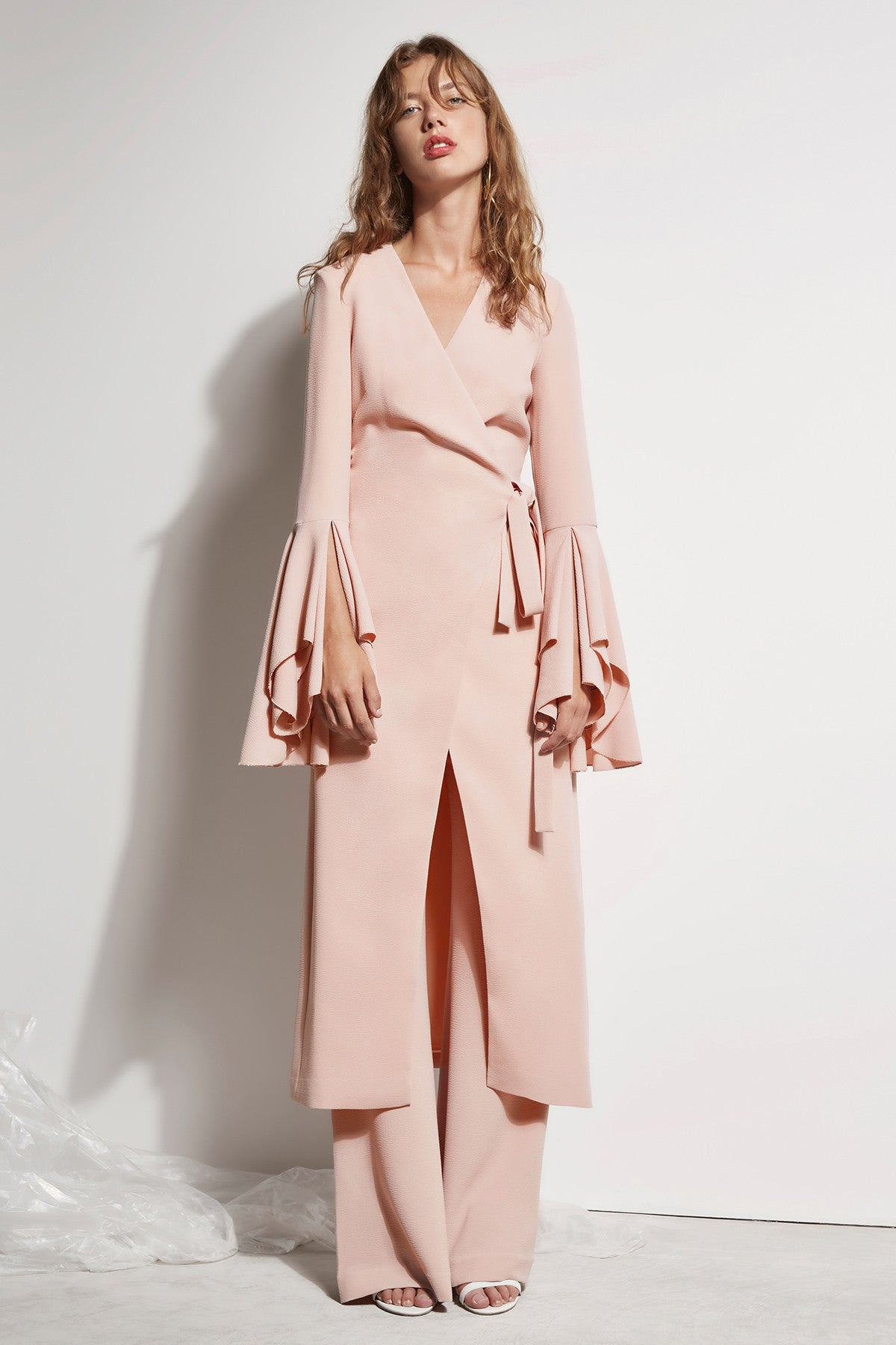 STILL STANDING TRENCH dusty pink