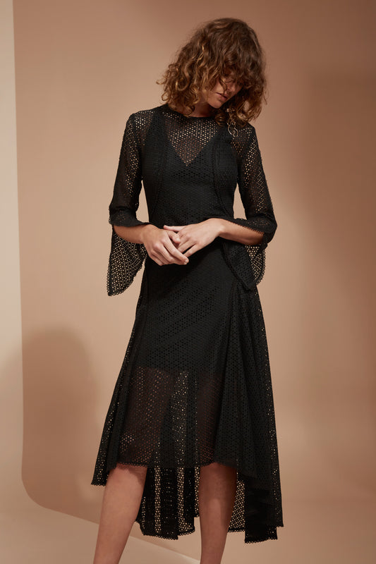 ASPIRE LONG SLEEVE DRESS black