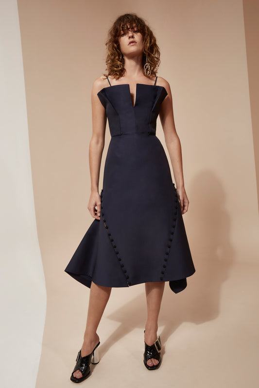 CONDUIT DRESS navy