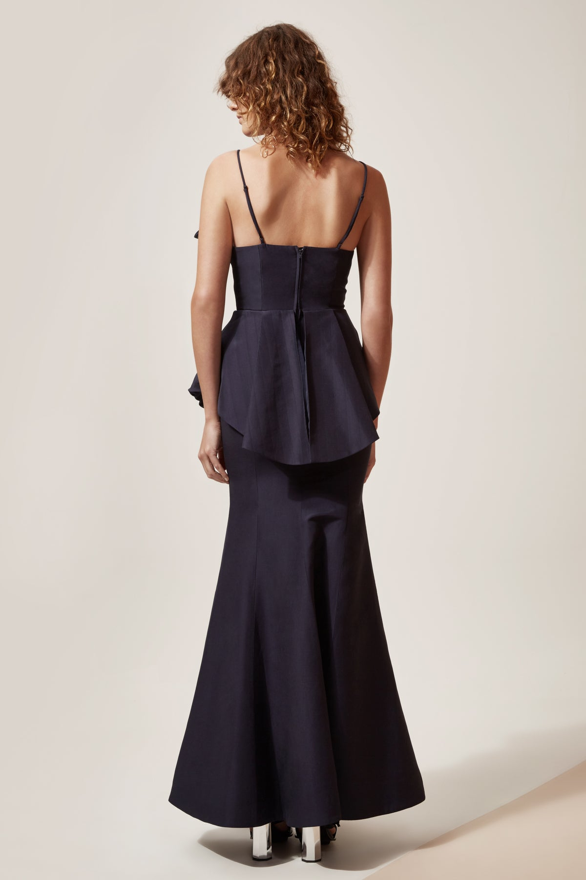CONDUIT FULL LENGTH DRESS navy