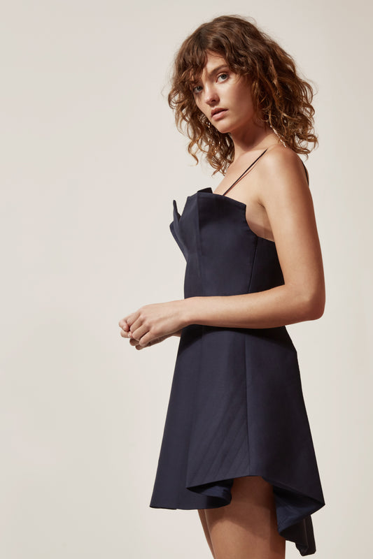 CONDUIT MINI DRESS navy