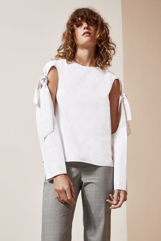ESSENSE SHIRTING TOP white