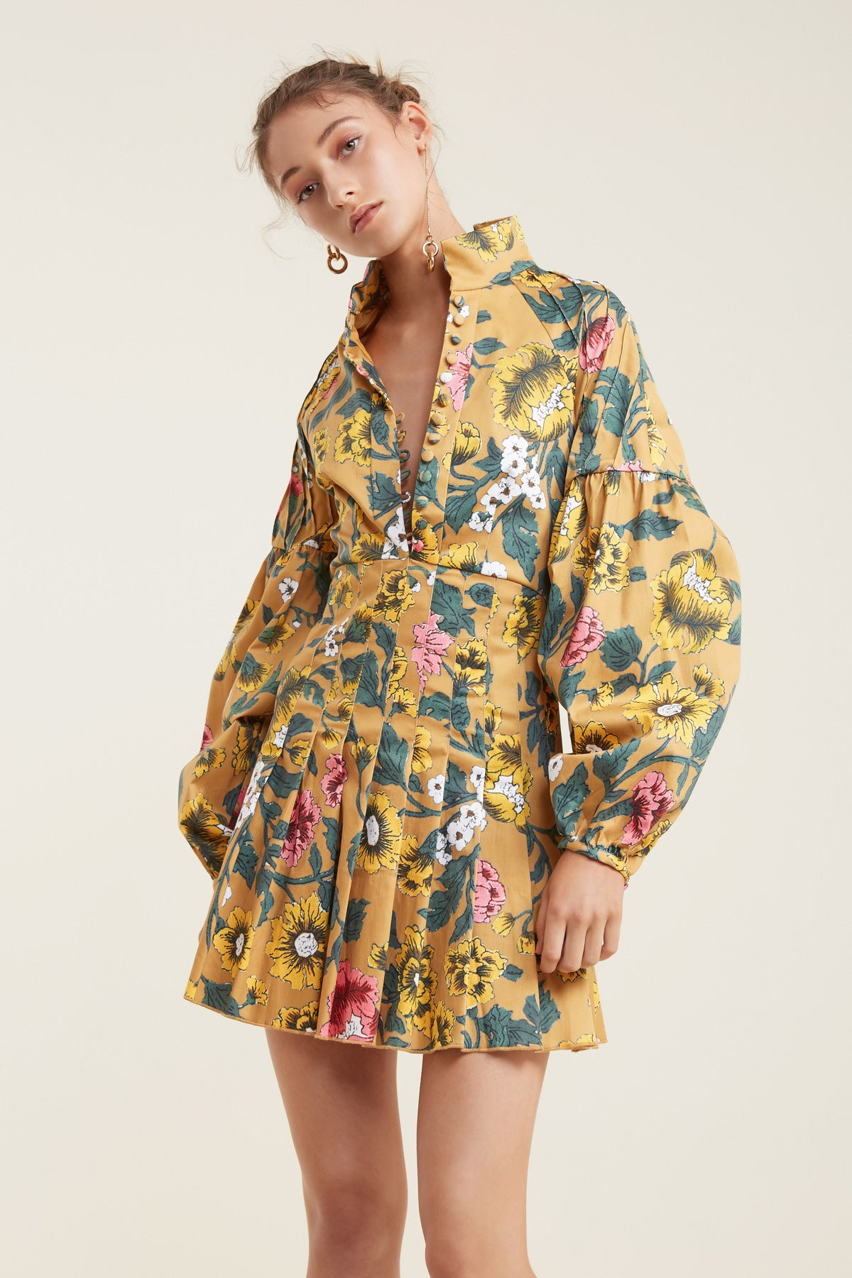 ANOTHER LOVER LONG SLEEVE DRESS marigold floral