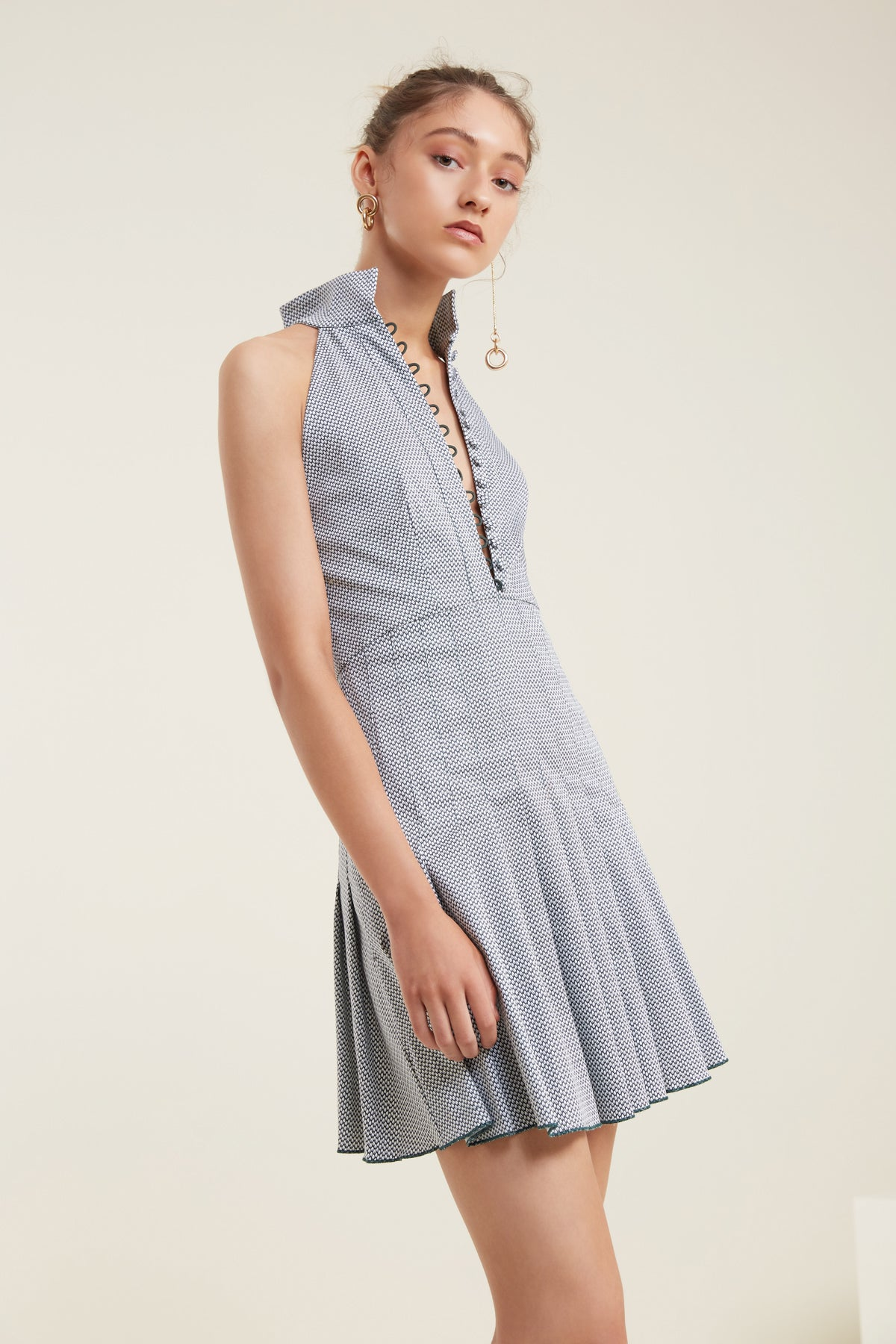 ANOTHER LOVER SHORT SLEEVE DRESS forest link