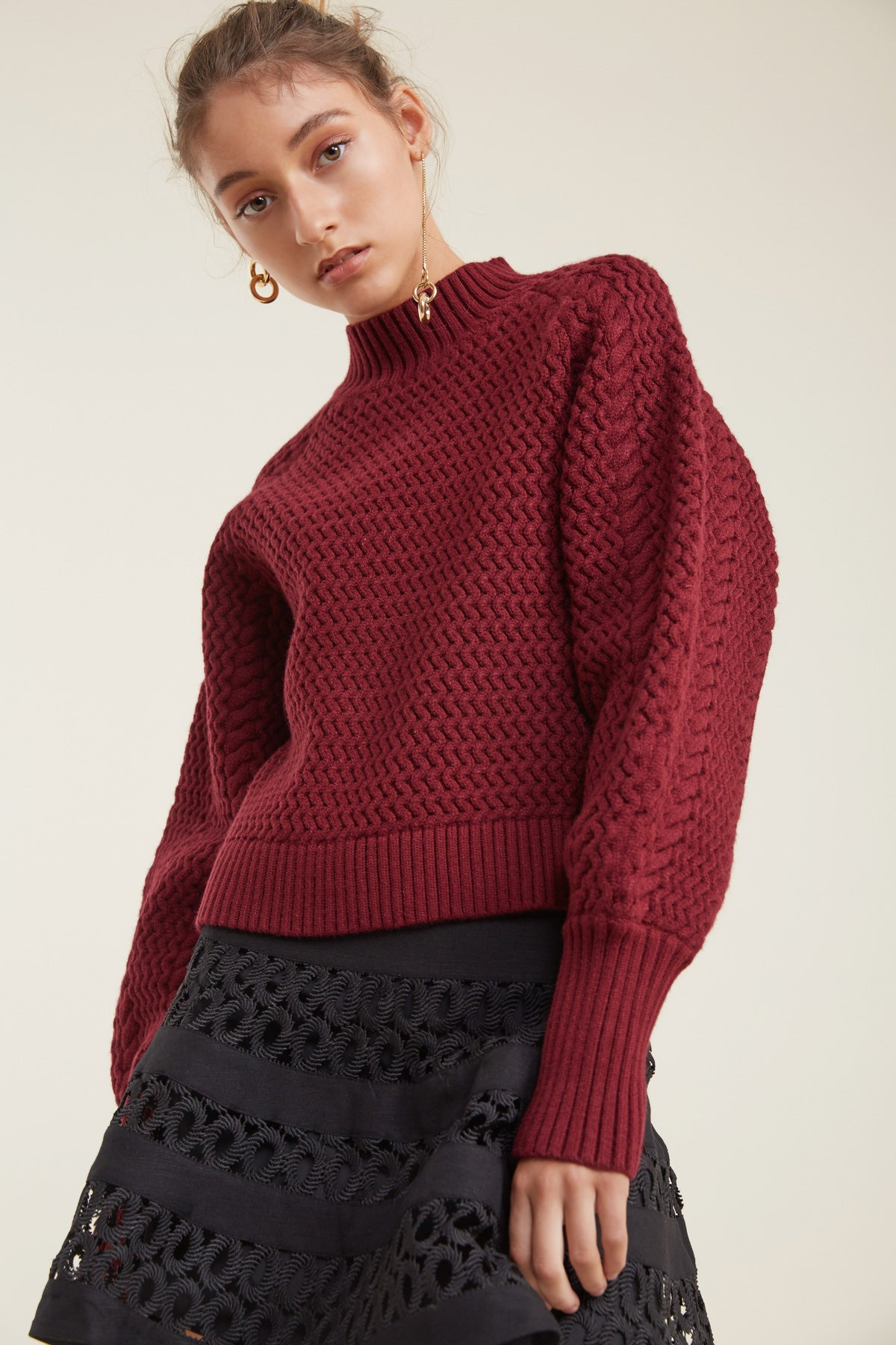 ARIA KNIT ruby