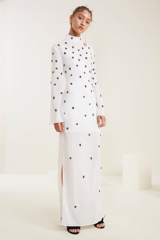 ASSEMBLE LONG SLEEVE GOWN ivory