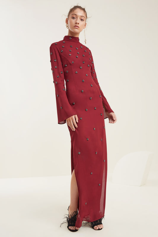 ASSEMBLE LONG SLEEVE GOWN ruby