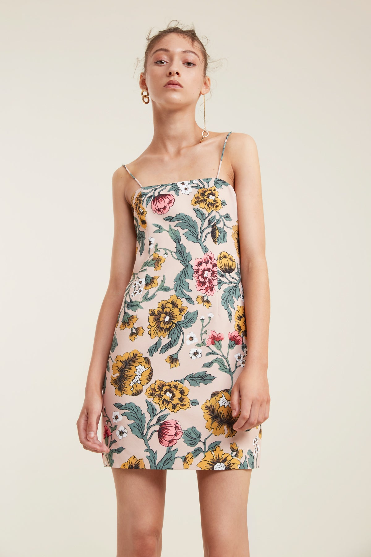 IMMERSE DRESS blush floral