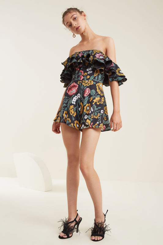 IMMERSE PLAYSUIT black floral