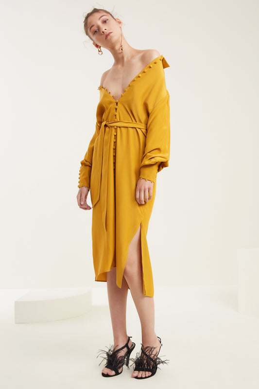 SUBSTANCE DRESS marigold