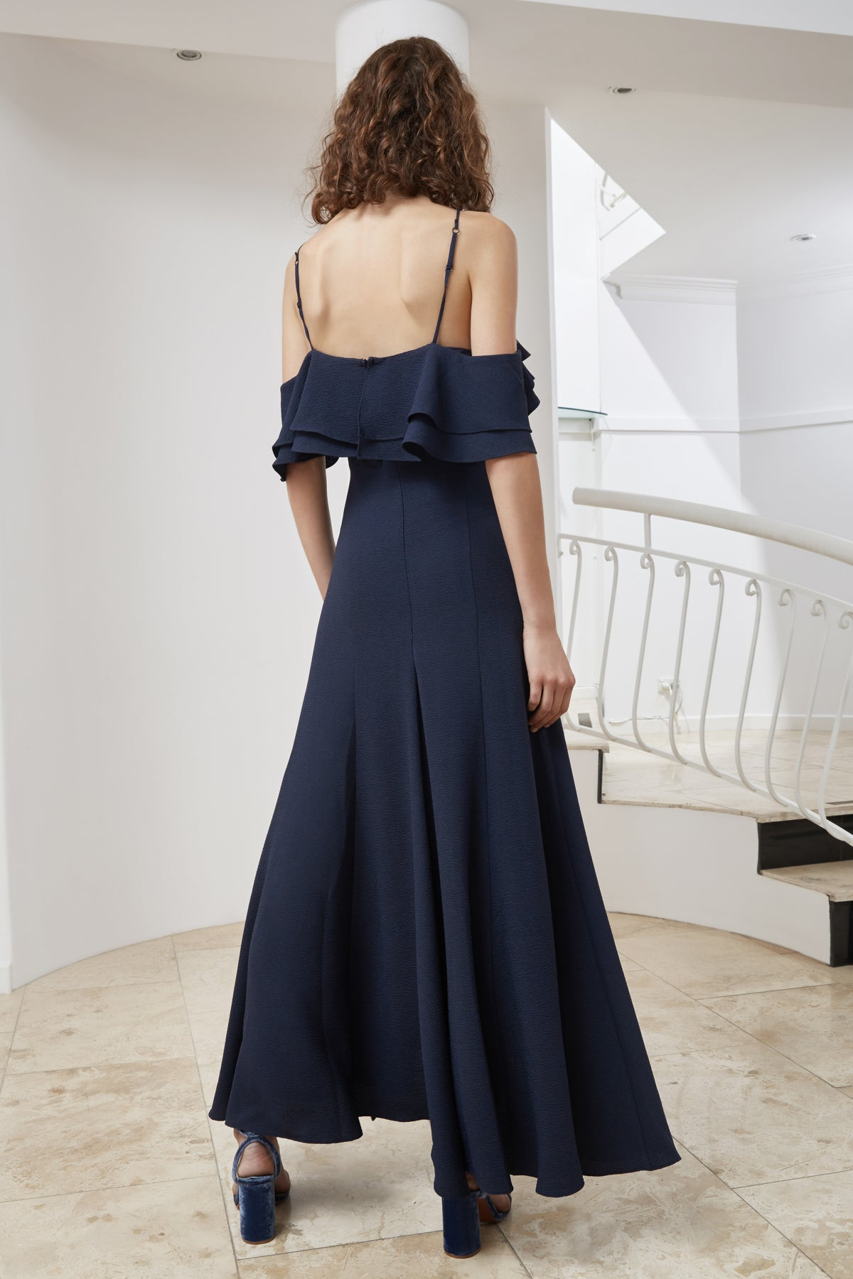TRANSLATION GOWN navy