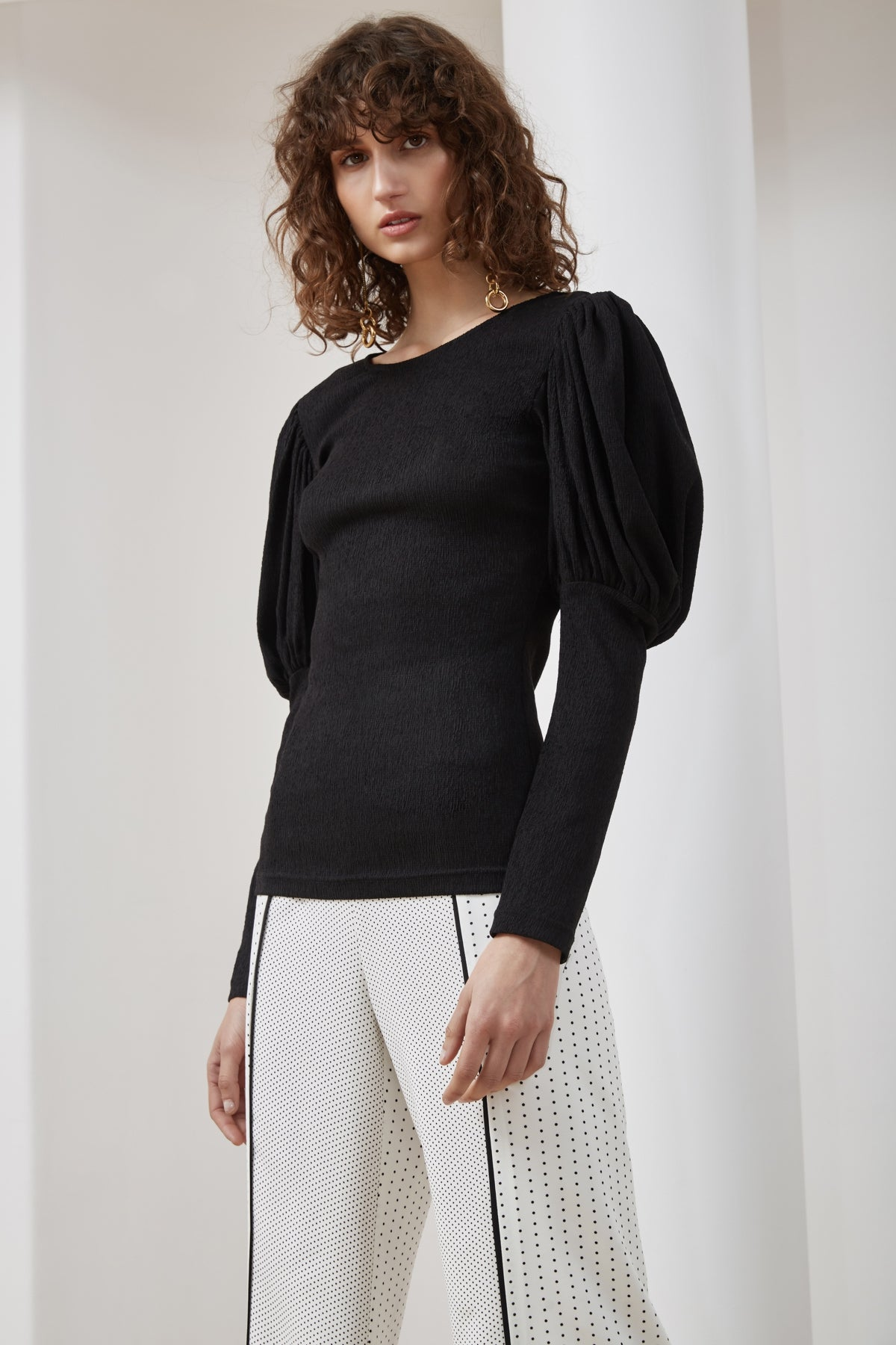 CIRCUIT LONG SLEEVE TOP black