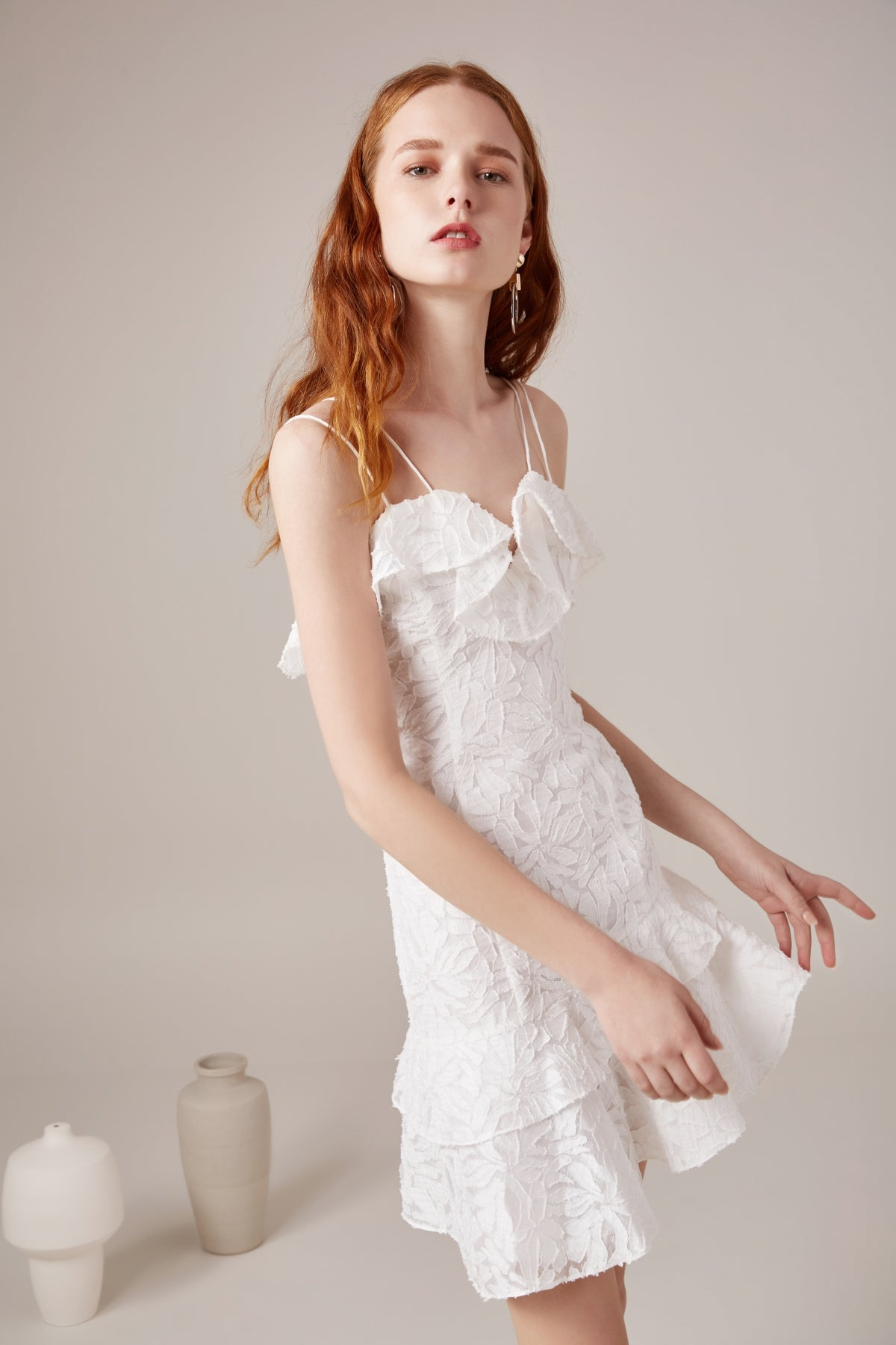 MORE TO GIVE MINI DRESS ivory
