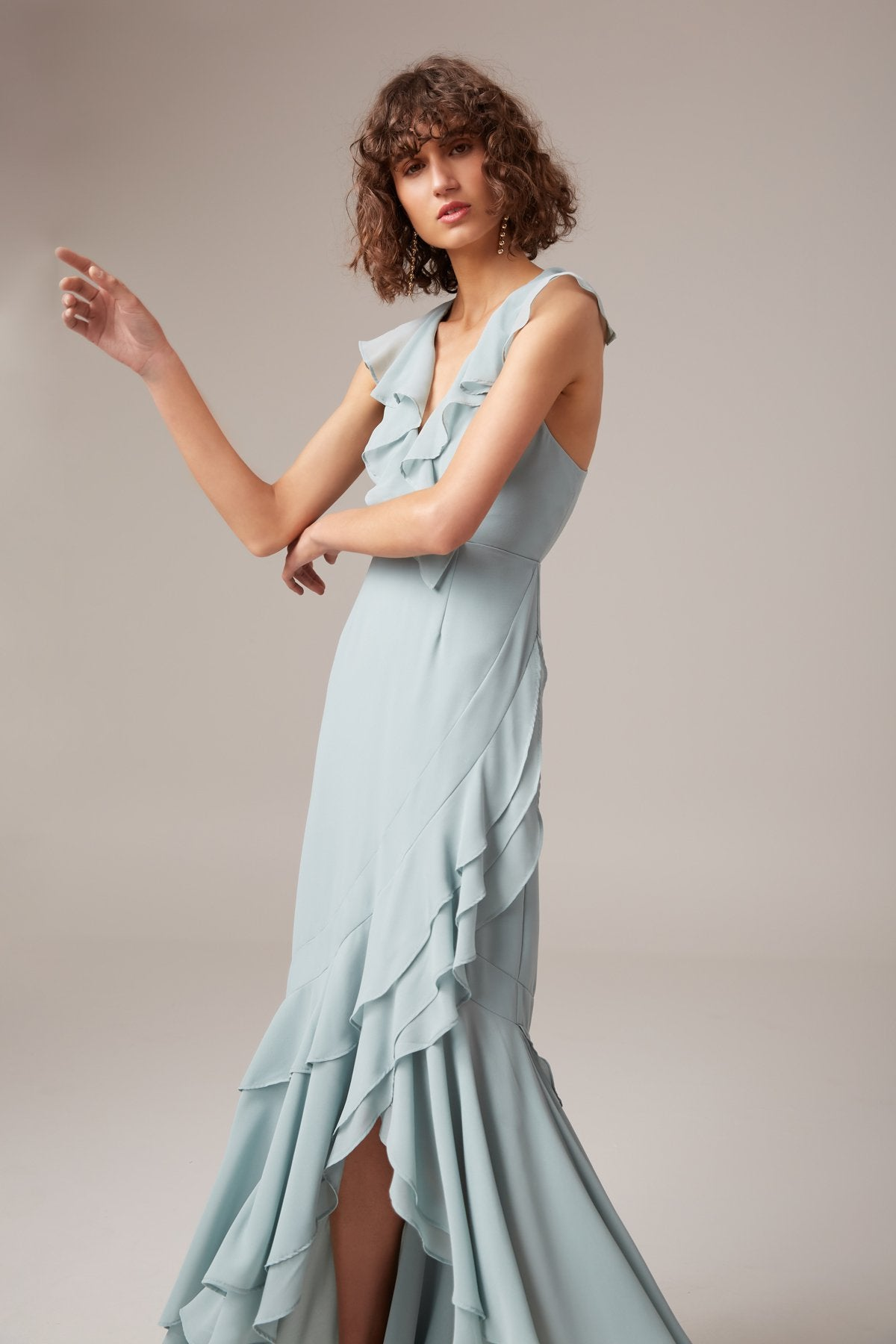 BE ABOUT YOU MAXI DRESS sage