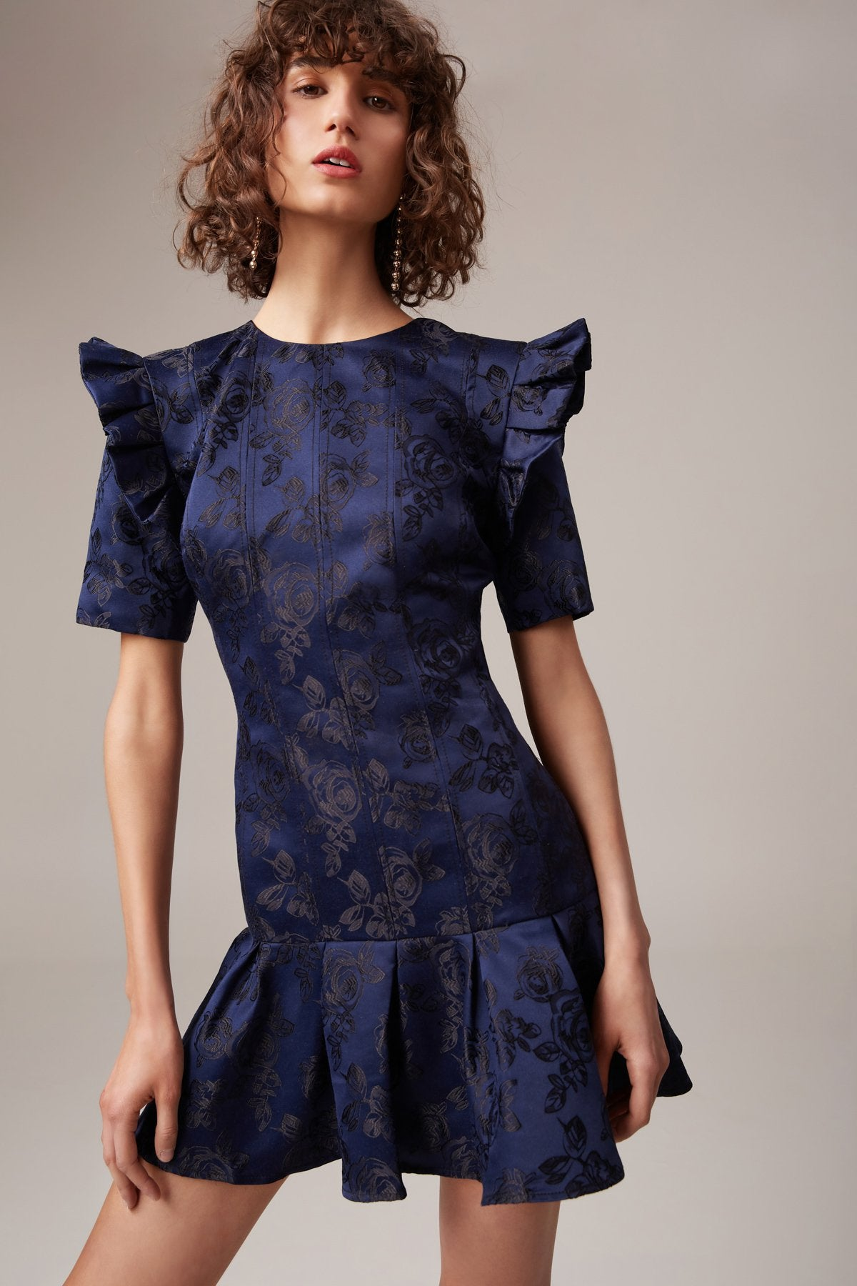 LEVITY MINI DRESS navy