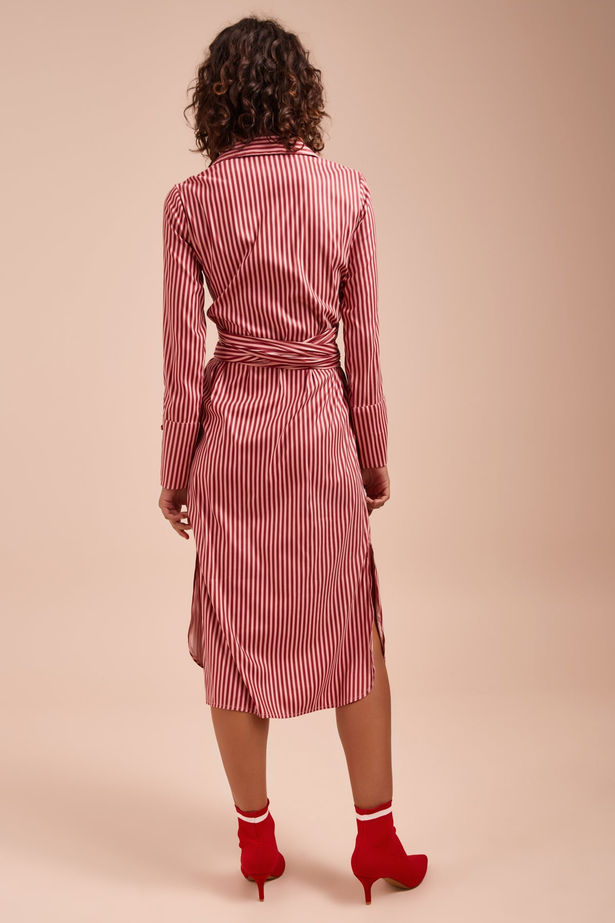 BELIEVE IN ME DRESS berry stripe