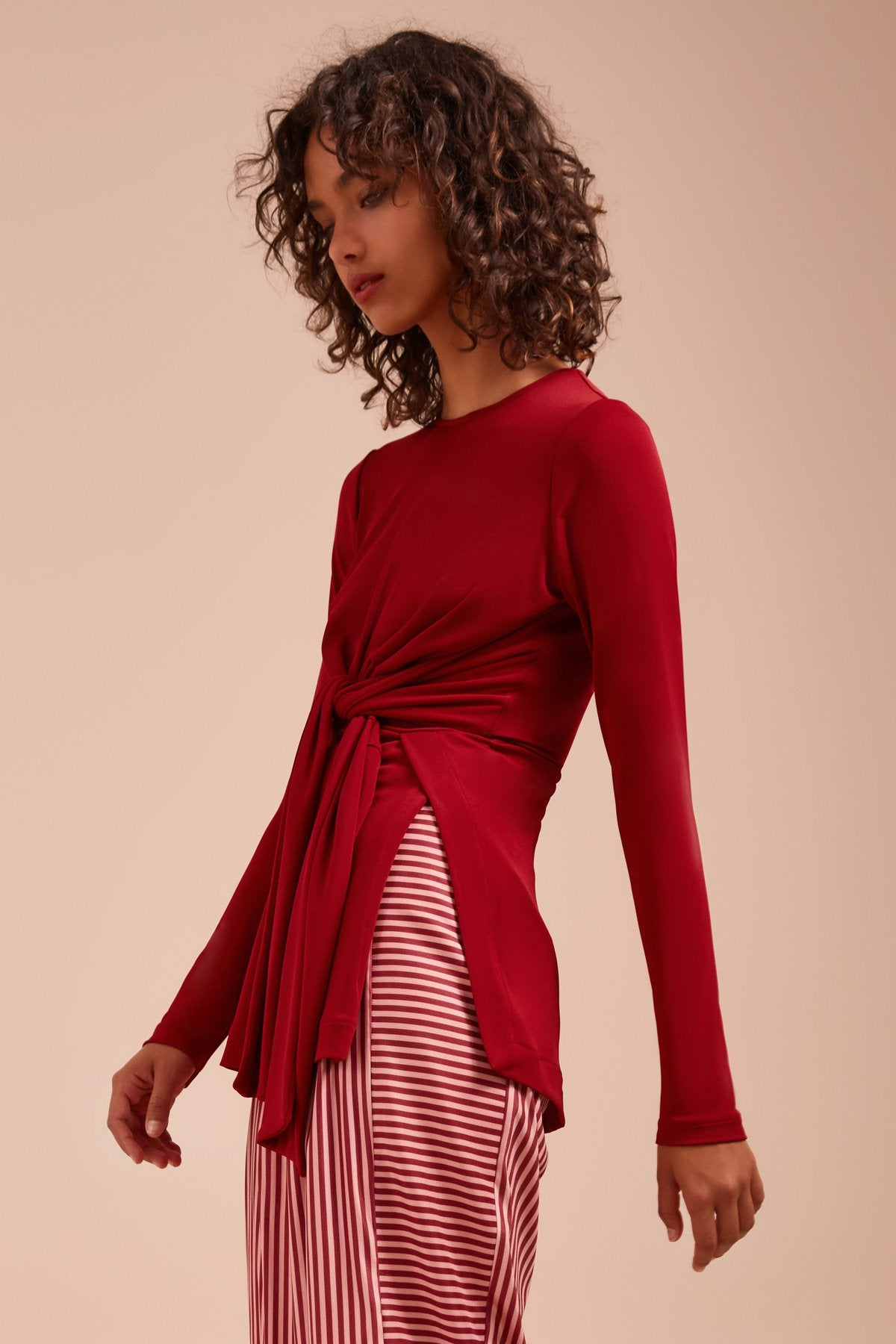 RECOLLECT LONG SLEEVE TOP berry