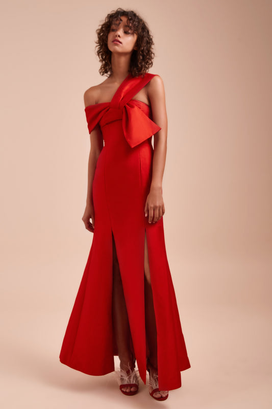 TOTALITY GOWN red