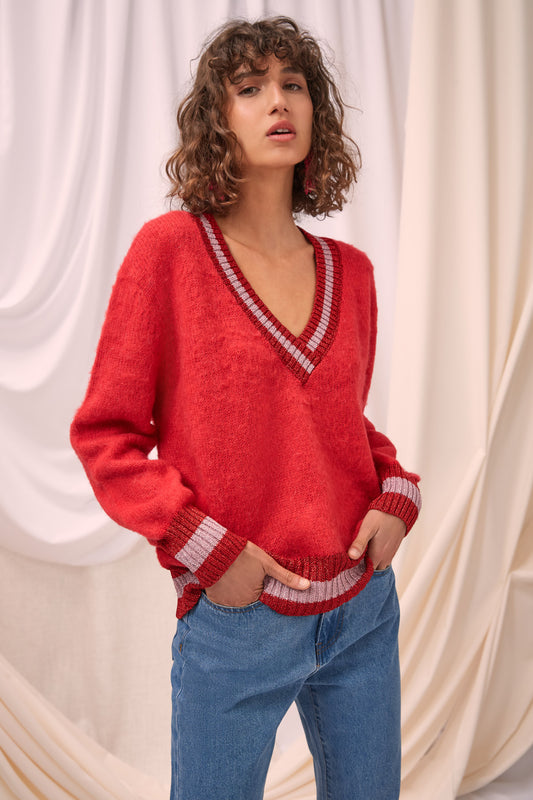 FEROCITY KNIT JUMPER chili