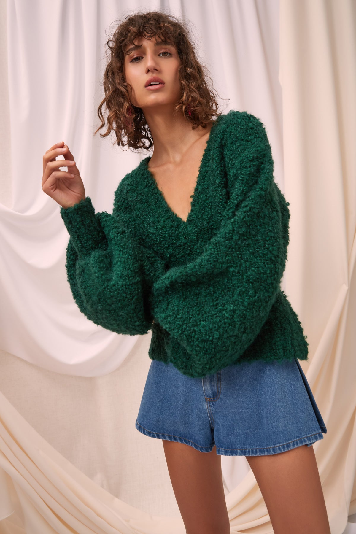 REVOLVING KNIT JUMPER emerald