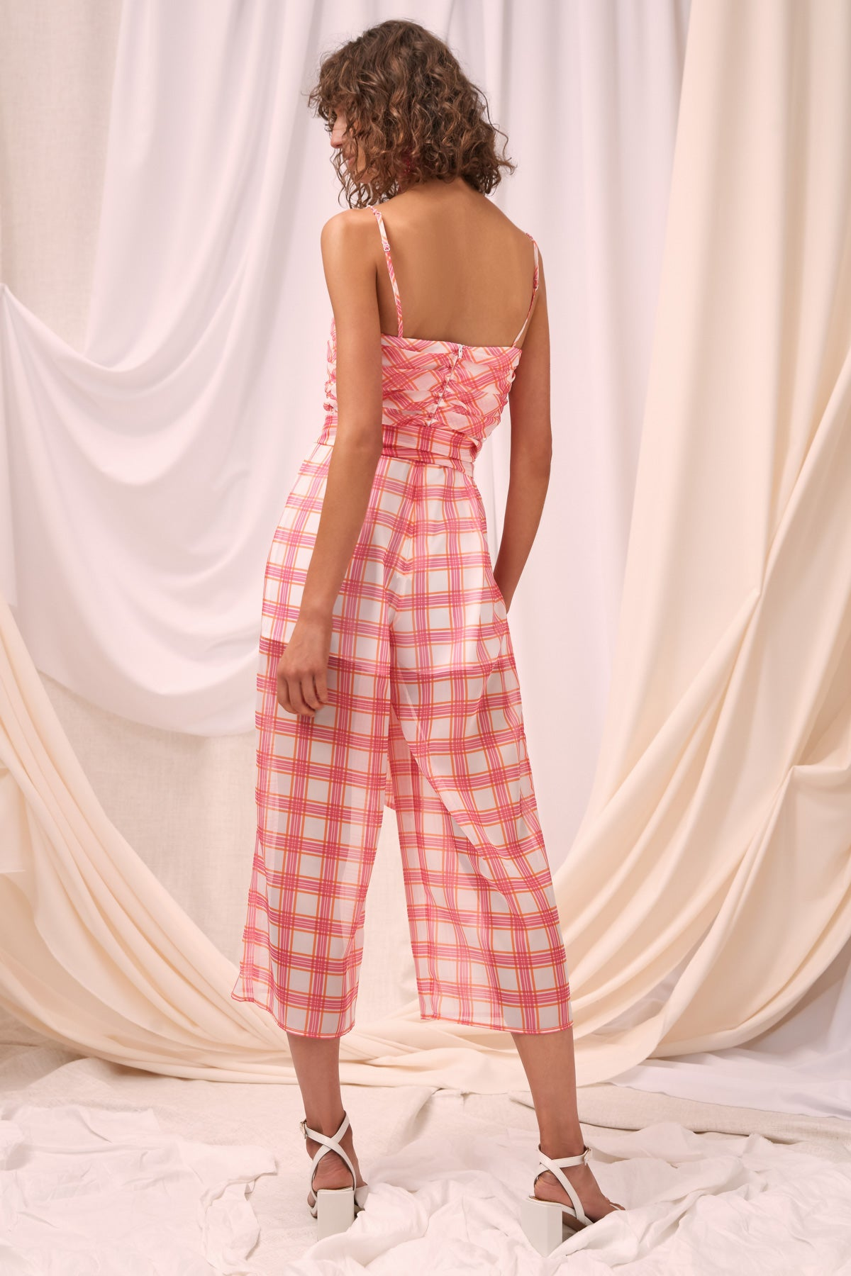 SOLACE JUMPSUIT ivory check