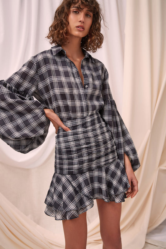 SOLACE SKIRT black check