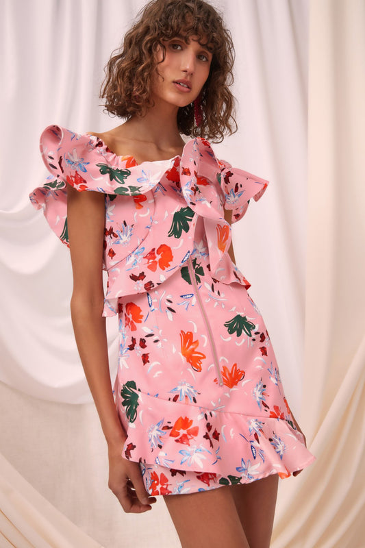ELATION DRESS pink floral