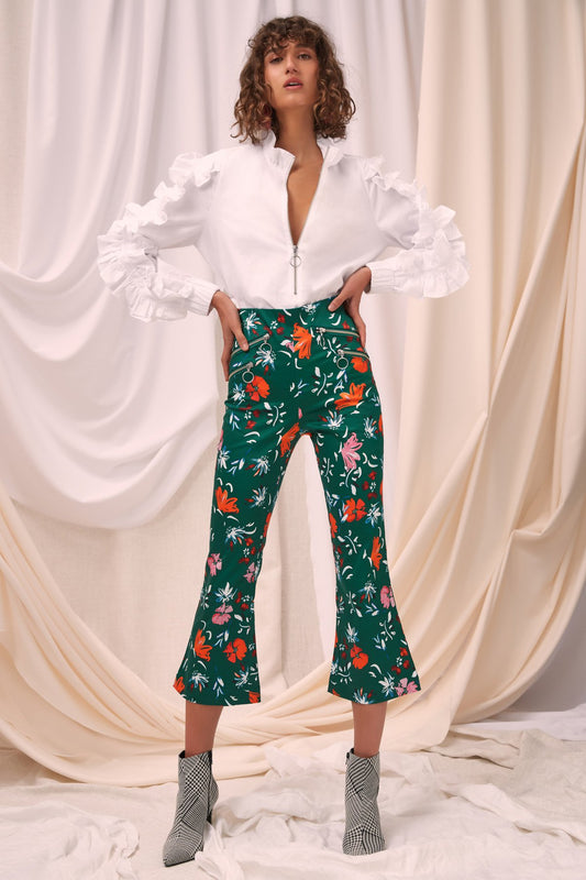 ELATION PANT emerald floral