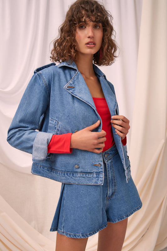 INSTRUCTION JACKET blue denim
