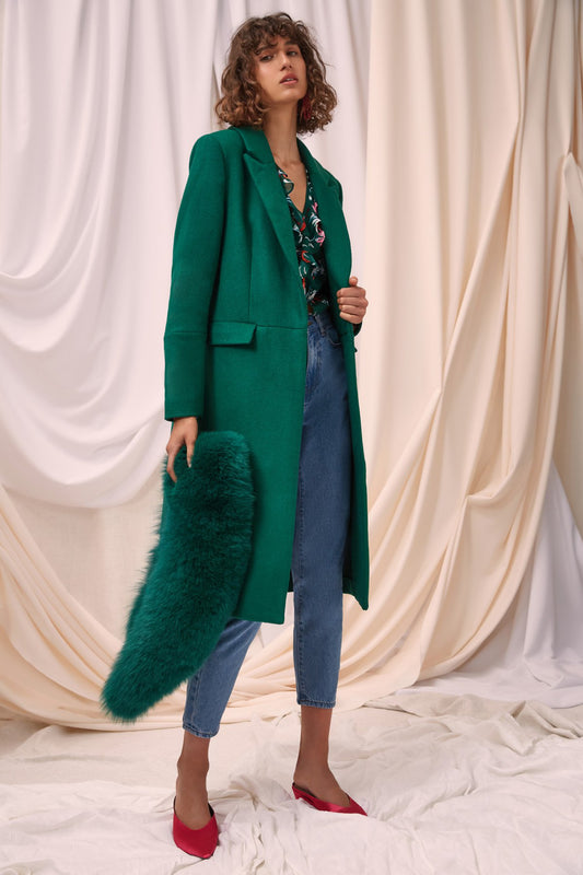PARALLEL COAT emerald