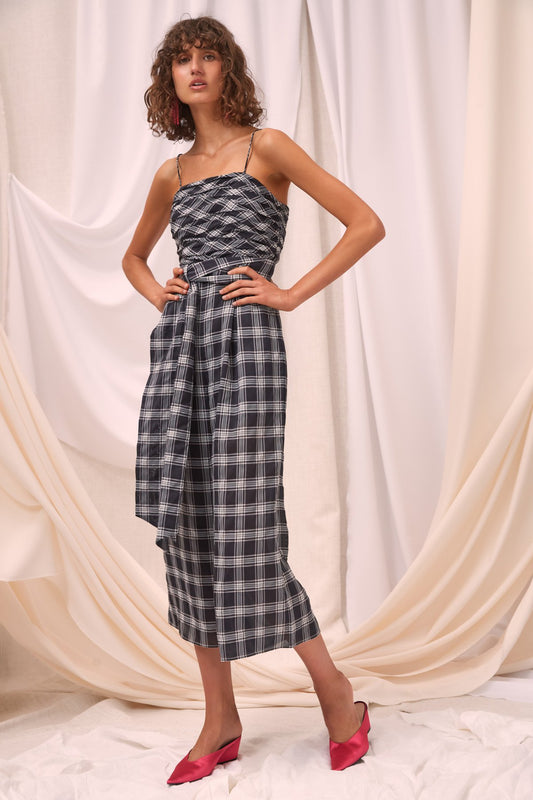 SOLACE JUMPSUIT black check