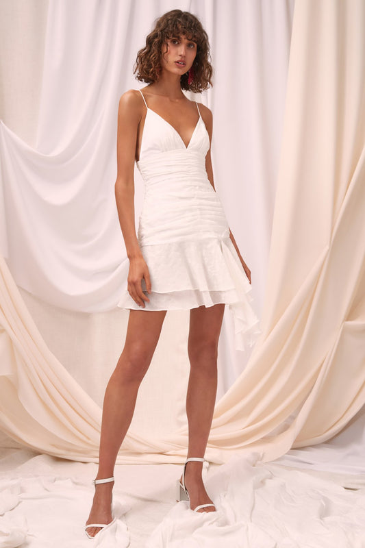 SOLACE MINI DRESS ivory