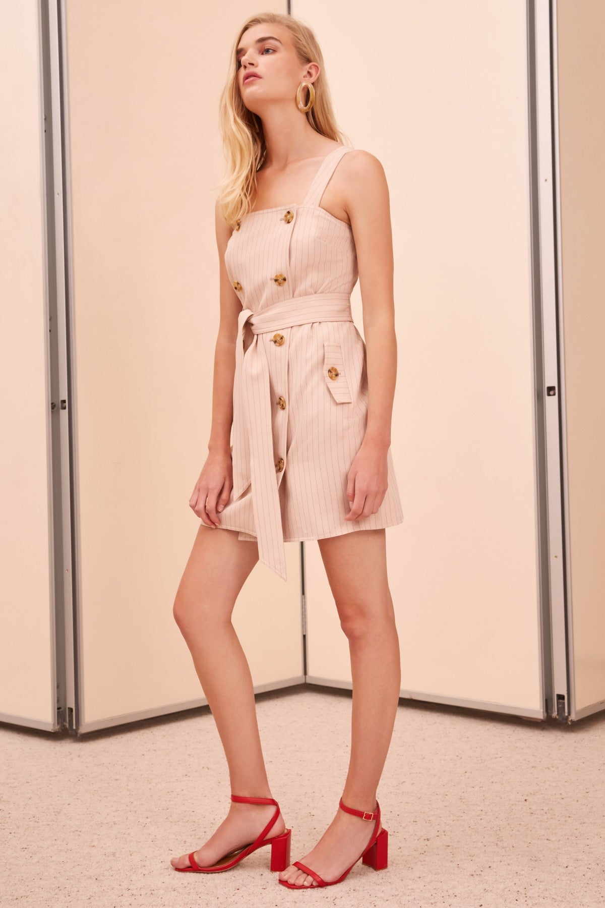 GO FROM HERE SHORT SLEEVE DRESS nude