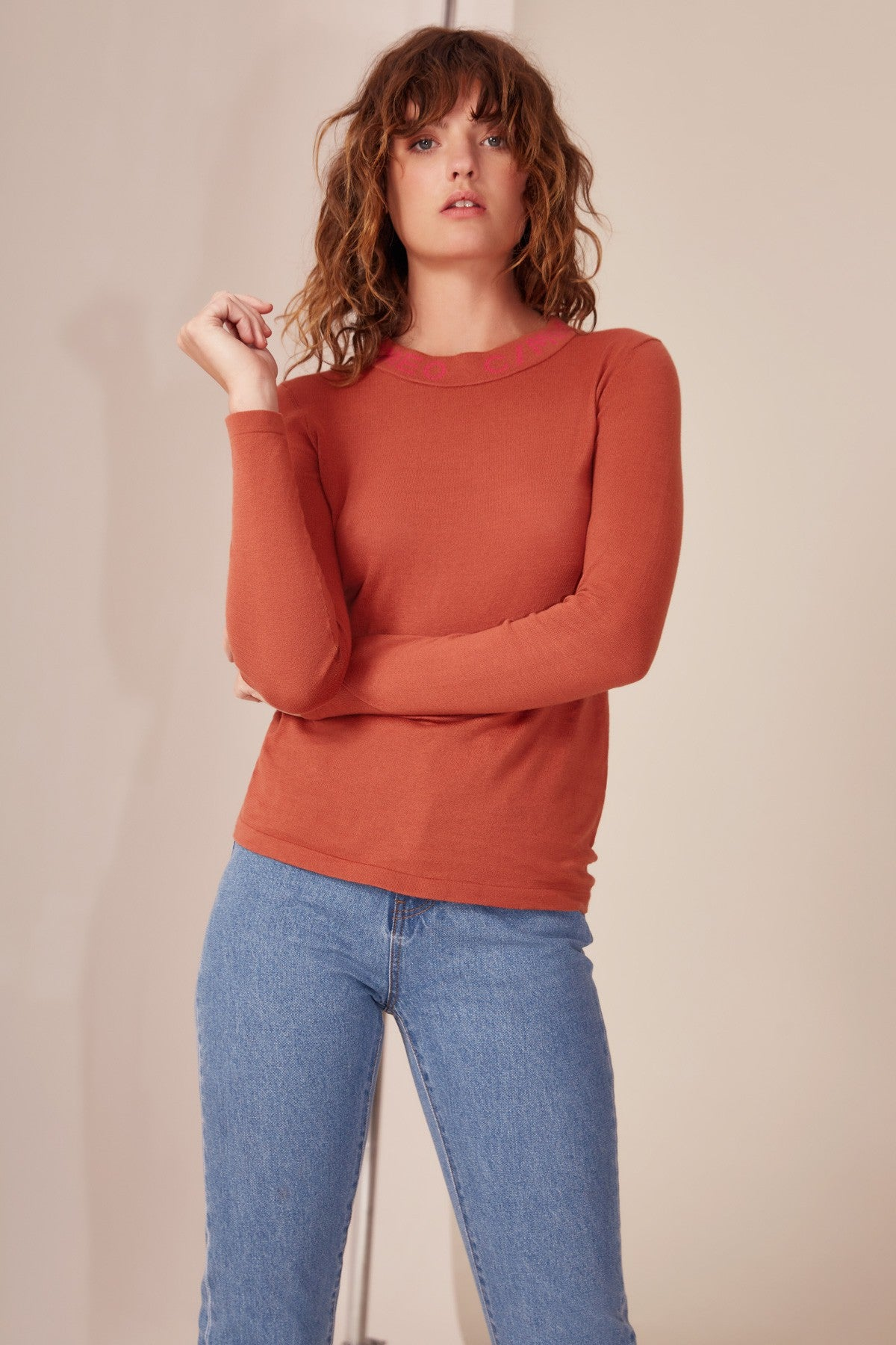 COLLECT KNIT TOP copper