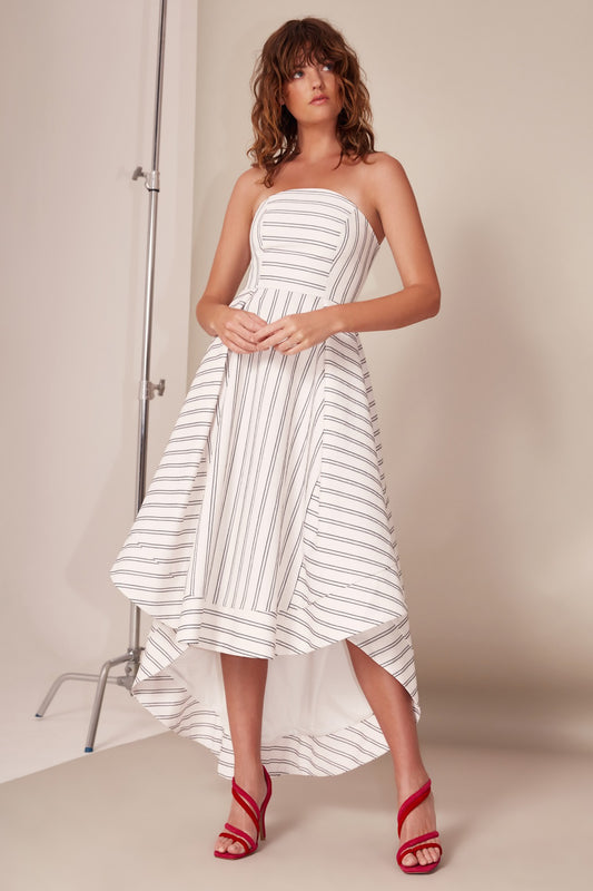MOMENTS APART GOWN ivory stripe