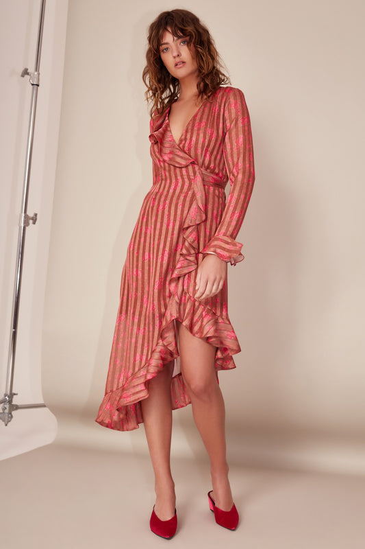 SIGNIFICANT MIDI DRESS copper rose