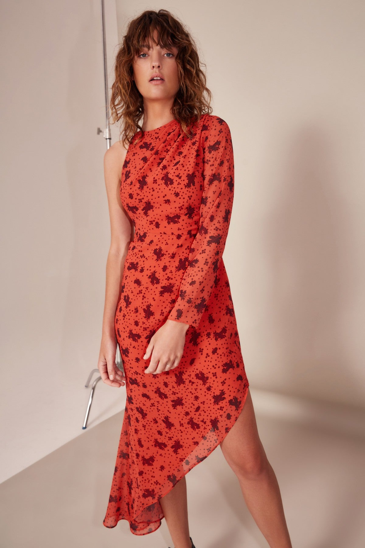 SWEET THING MIDI DRESS chilli rose