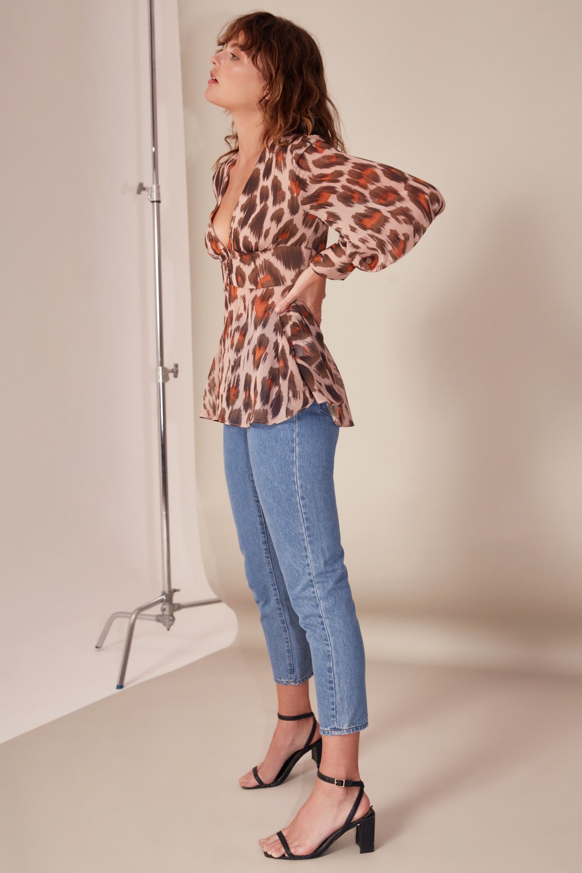 SWEET THING TOP nude leopard