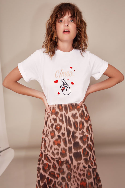 SWEET THING SKIRT nude leopard