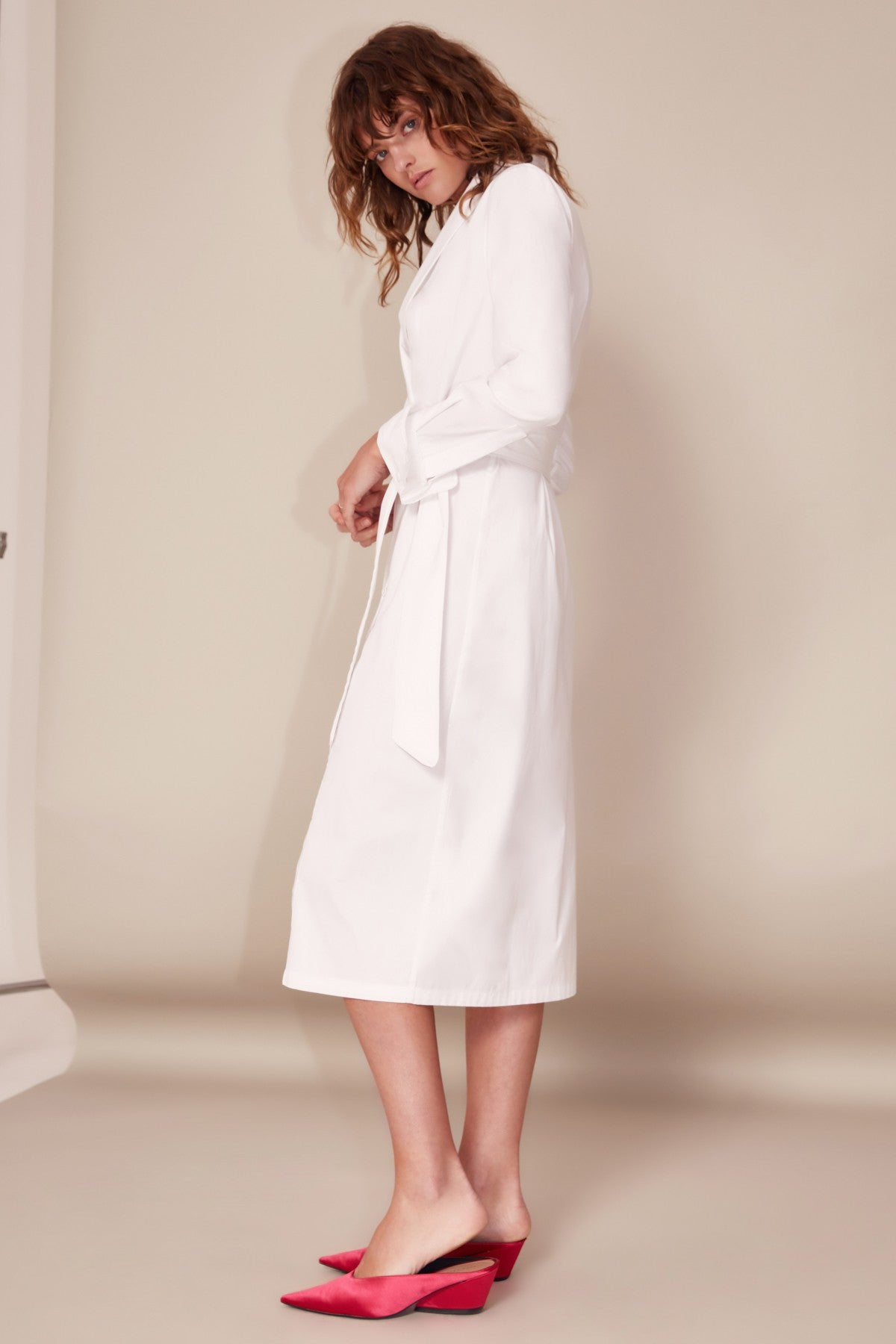 YOUR TYPE SHIRT DRESS white