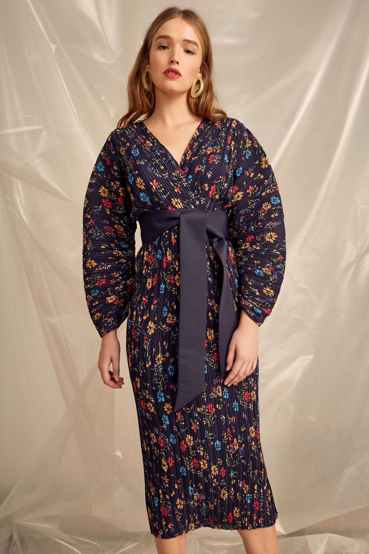 DECIDED DRESS navy floral