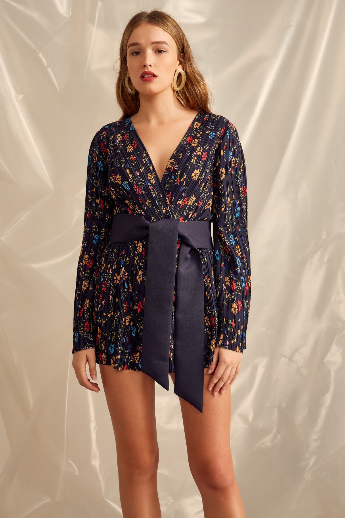 DECIDED PLAYSUIT navy floral