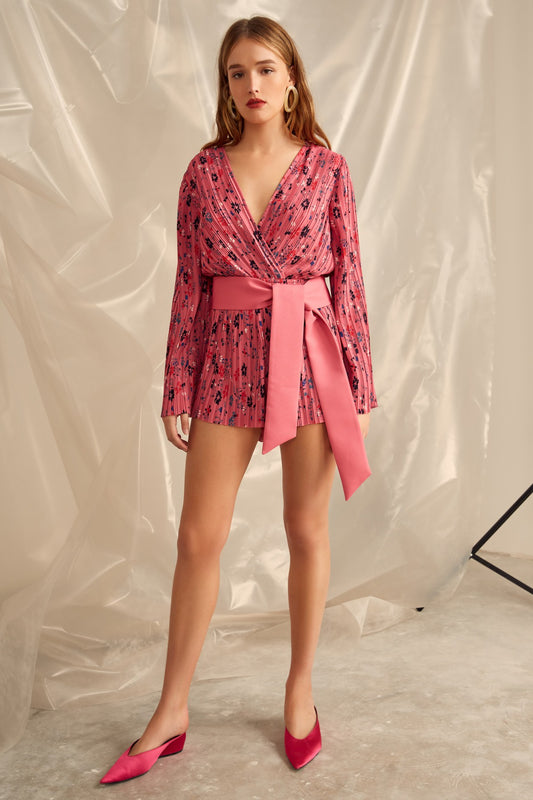 DECIDED PLAYSUIT pink floral