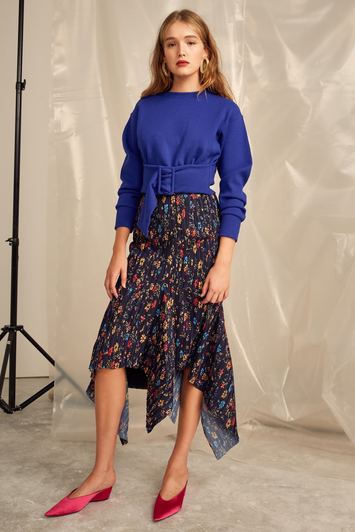 DECIDED SKIRT navy floral